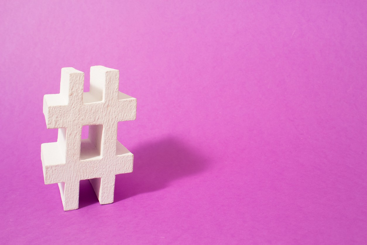 Hashtag. Conceptual image, place your next word or advertising.