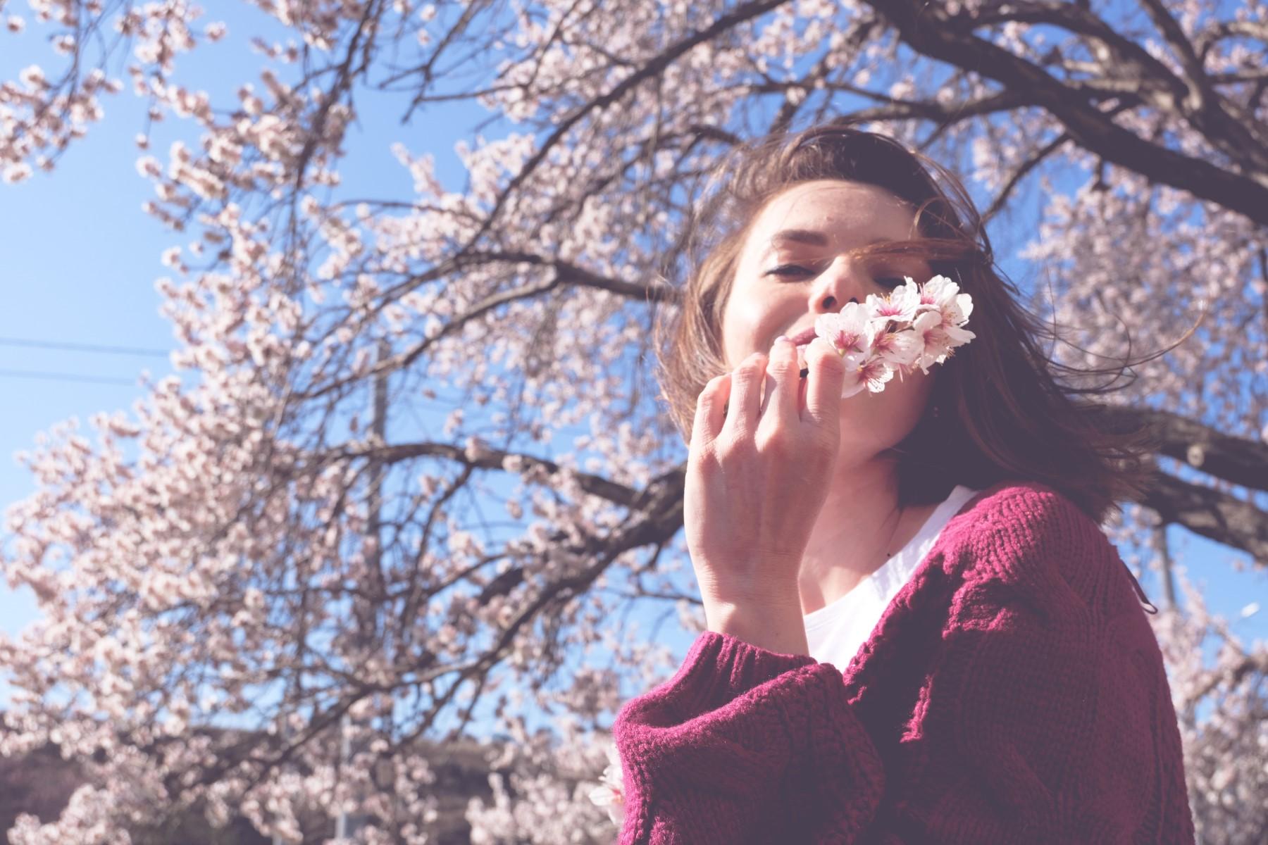 woman-cherry-blossom